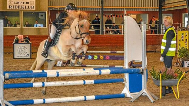 Her er billeder fra søndagens spring i klassen for ponyer. Foto: Mogens Lynge