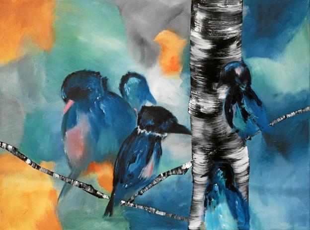 Fuglene letter mod vinden.Privatfoto