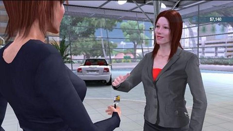 Dit alter ego (kvinden tv.) modtager nøglen til sin nye superbil.