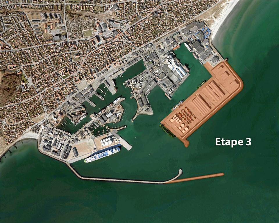Visualisering af tredje etape: Skagen Havn