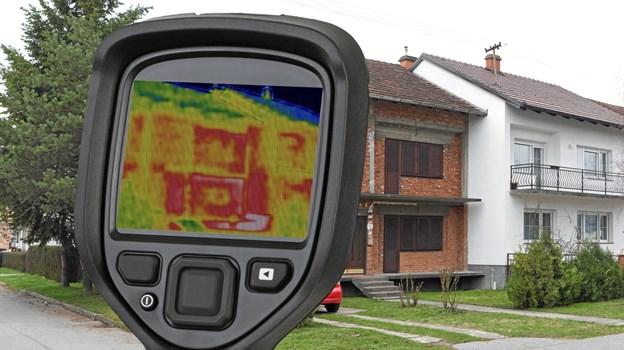 Raw Brick Semi detached House Thermal Imaging