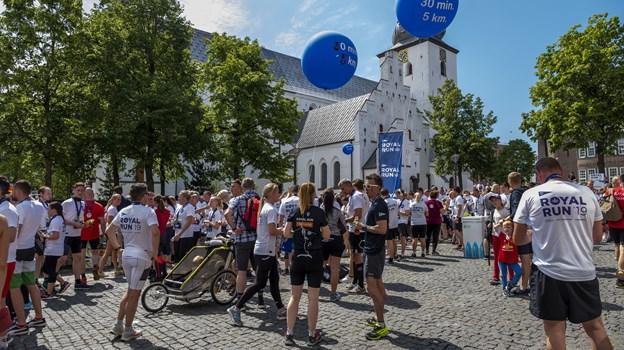 Royal Run havde i år rute igennem midtbyen. Foto: Lasse Sand