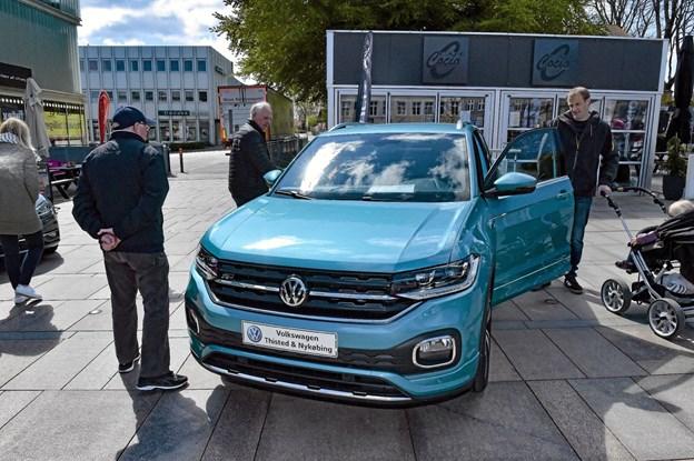 Haaning Bilers metallicblå T-Cross - VW's nye SUV - trak mange interesserede til. Foto: Ole Iversen Ole Iversen