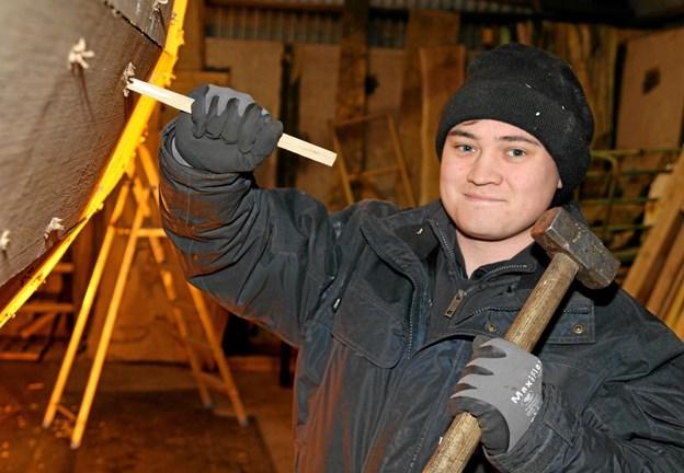 Den 23-årige Mikkel Ussing Lynge er glad for lærepladsen.