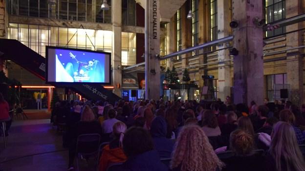 Det er blevet en tradition, at Nordkraft Event og Biffen viser The Nightmare Before Christmas på storskærm op til jul. Foto: Julie Bengtson