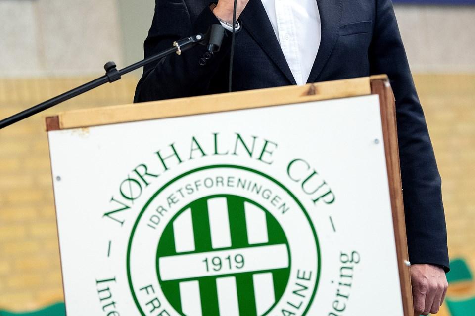 Claus Beier, formand for sponsorudvalget, var konferencier. Foto: Lars Pauli © Lars Pauli