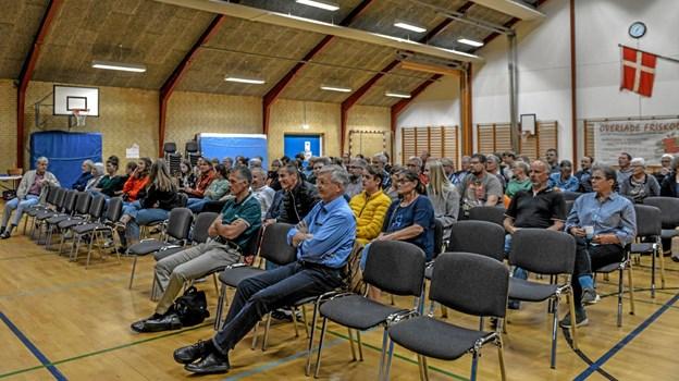 Mange af spørgsmålene kom til at handle om de lokale ting, som mest handler om kommunalpolitik. Foto: Mogens Lynge Mogens Lynge