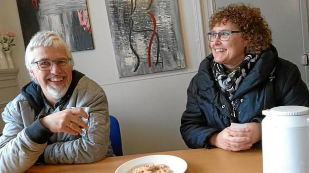 Ægteparret Poul-Henrik Carl og Birgitte Bundgaard vil fortsat være de daglige tovholdere i bygningen på Aagade 8 i Nykøbing. Arkivfoto: Dorit Glintborg.