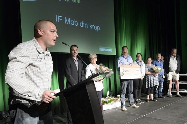 Søren Mose Christiansen, formand for IF Mob Din Krop, modtog på idrætsforeningens vegne årets sundhedspris i 2016. Foto: Peter Broen