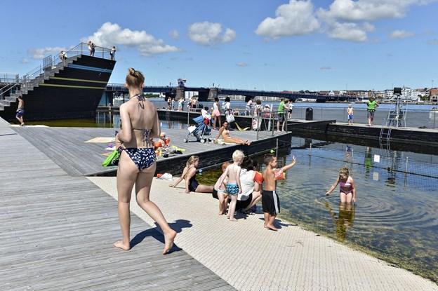 Aalborg Havnebad forventer at være klar til at tage imod de første gæster allerede lørdag den 16. juni. Arkivfoto: Bent Bach