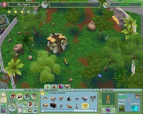 * FOTO6 - (park set oppefra m. ikoner nederst) * Din zoo vises for det meste i fugleperspektiv.