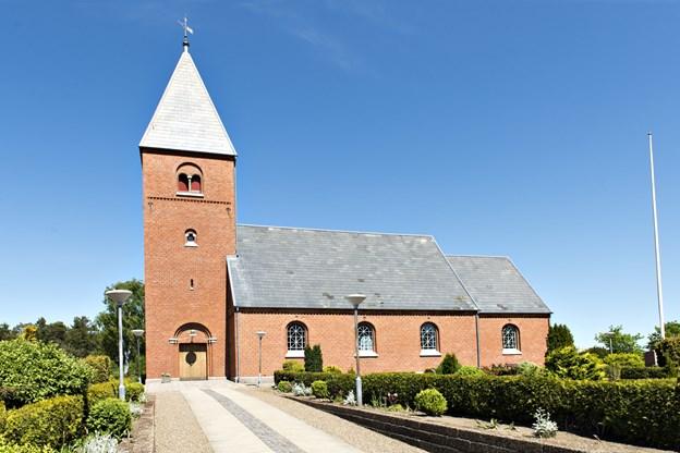 Ålbæk kirke har konfirmation Bededag 17. maj. Arkivfoto: Kim Dahl Hansen