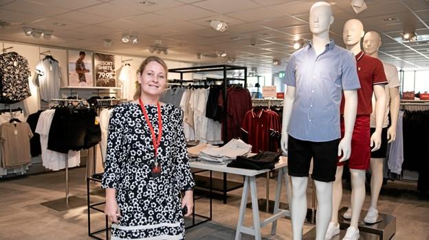 Butikschef Malene Schødt i den nye herreafdeling
