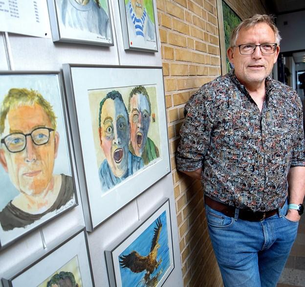 Søren Munthe har også portrætter med på udstillingen. © Lars Pauli