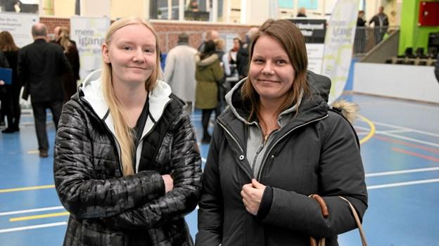 Til venstre Katrine Nonbo og Sacha Jensen var til messen. Foto: Flemming Dahl Jensen Flemming Dahl Jensen