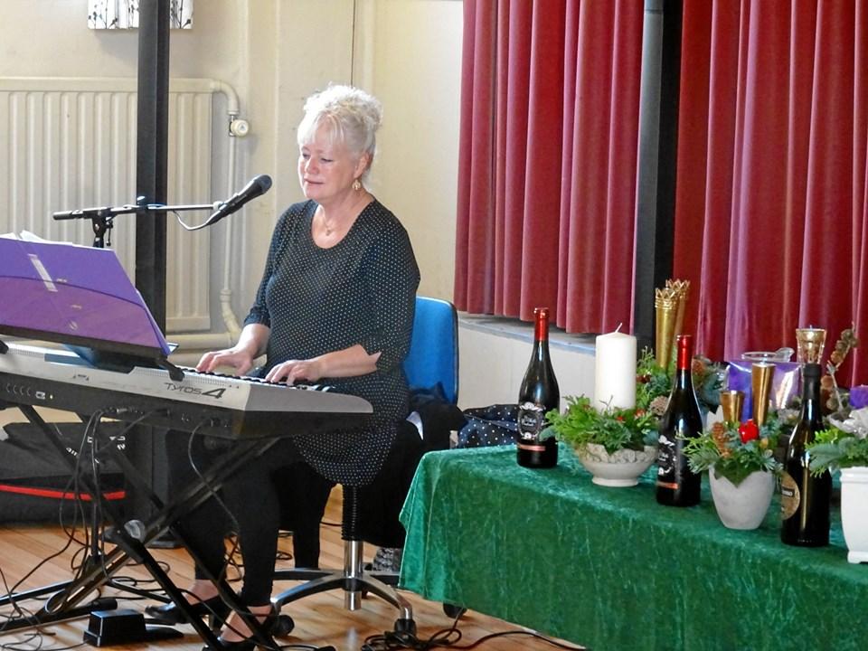 Lisbeth Sørensen underholdte.Privatfoto