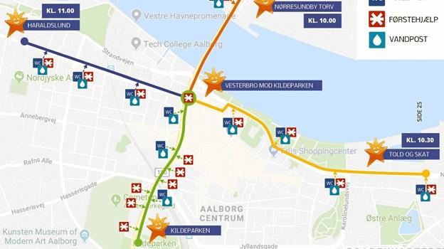 Der er mange traditioner forbundet med Aalborgs Karneval - en af dem er stjerneparaden. Grafik: Aalborg Karneval