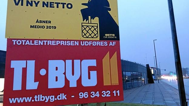 Den kommende Netto-butik på Hobrovej 446 i Skalborg er med på fremtidsvognen og det nye forretningskoncept, der skal være med til at løfte hele indkøbsoplevelsen for forbrugerne. Arkivfoto: Torben O. Andersen