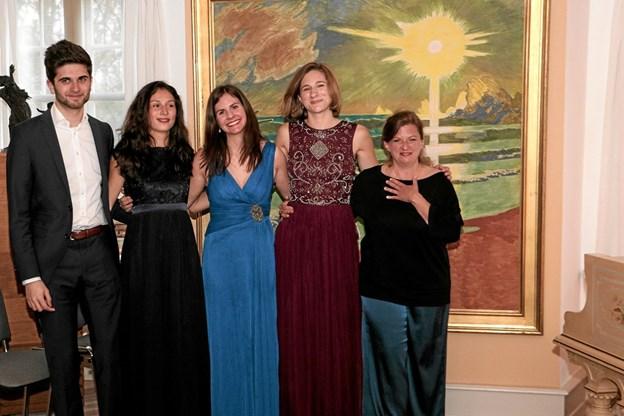 Det nye hold bestod af Nayeb Behbahani, Sofia Luz Held, Eva-Katharina Horn, Teresa Toelle, under ledelse af Tanja Tismar. Foto: Peter Jørgensen Peter Jørgensen