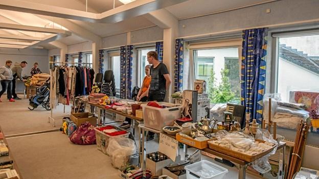 Der var mange fine ting til salg på kræmmermarkedet på Lægstør Parkhotel. Foto: Mogens Lynge Mogens Lynge