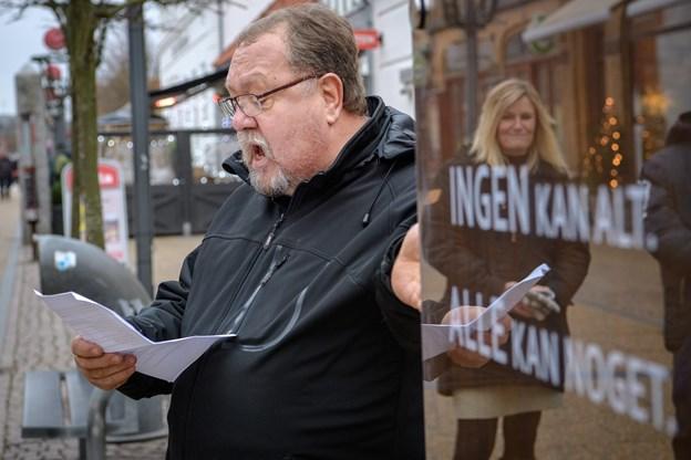 Palle Thomsen motiverede valget af Carl Scharnbergs digt. Foto: Peter Broen