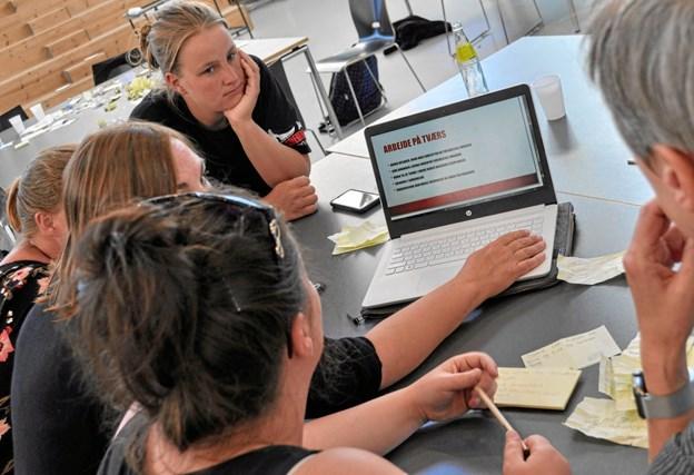 Sidste års Hackathon - eleverne fik 150 nye ideer på en time. Foto: EUC Nord