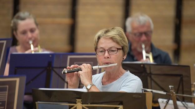 De blødere træblæsere har også plads i orkestret.