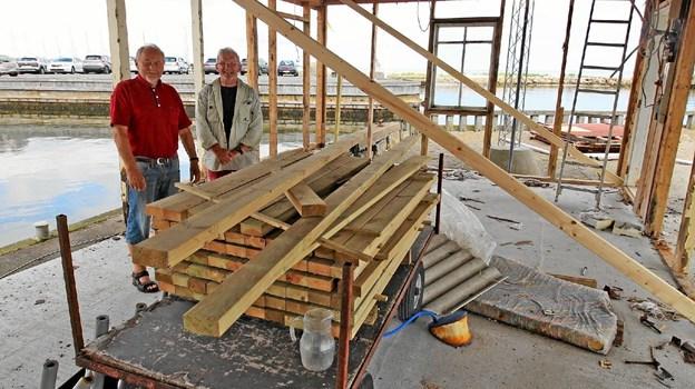 Det er et større arbejde at renovere den gamle hal, men arbejdet er nu indledt. Foto: Jørgen Ingvardsen Jørgen Ingvardsen