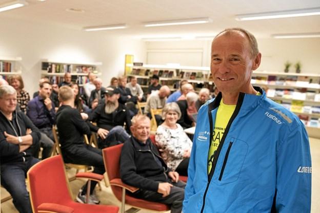 Bjarne Jensen holdt onsdag aften foredrag om nogle af sine store oplevelser med maratonløb. Foto: Allan Mortensen