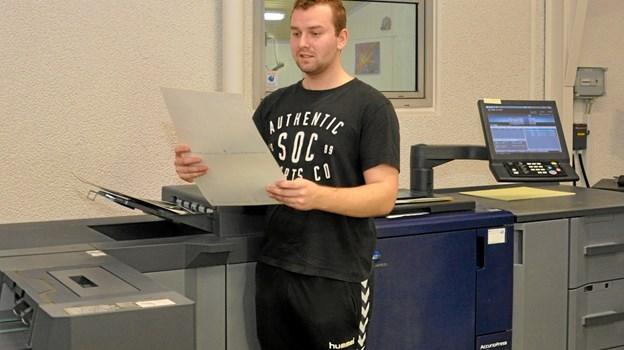 En af opgaverne i konkurrencen kunne f.eks. være at producere en plakat på en digital trykkemaskine. Foto: Ole Torp