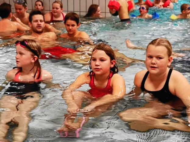 Ingstrup deltog i maratonsang i svømmehallen. Privatfoto