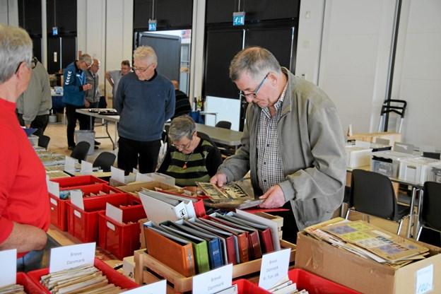 Der var også stande med ældre postkort. Foto: Flemming Dahl Jensen Flemming Dahl Jensen