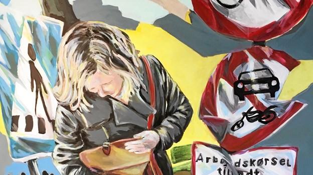 """""""Midt i Odense"""" har Gitte Skovmand valgt at kalde dette billede, som er med på udstillingen """"Signs"""", der åbner i pinsen. Privatfoto"""