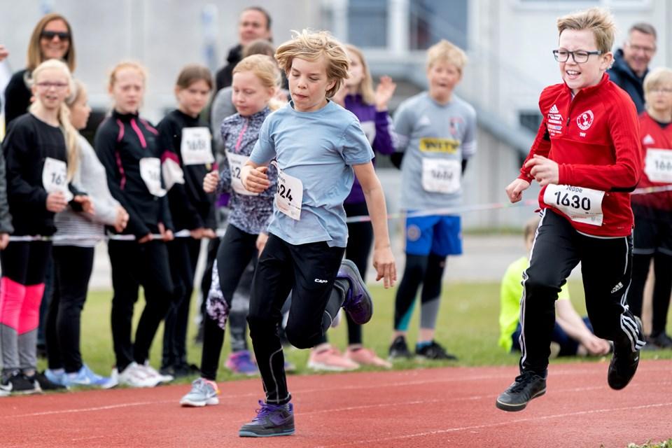 Der blev løbet til den store guldmedalje - både 60 meter sprint, 300 meter og stafetløb.