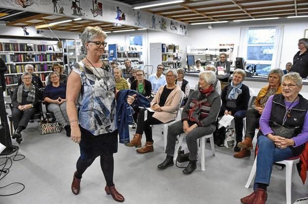 Modeshow ved By Malene på biblioteket til den sidste torsdag på biblioteket i 2018. Foto: Ole Iversen