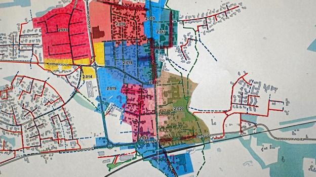 Separatkloakeringen i 2019 omfatter området Toftegade og gaderne vest herfor. På kortet er angivet i hvilke år de enkelte områder separatkloakeres. Foto: Niels Helver Niels Helver
