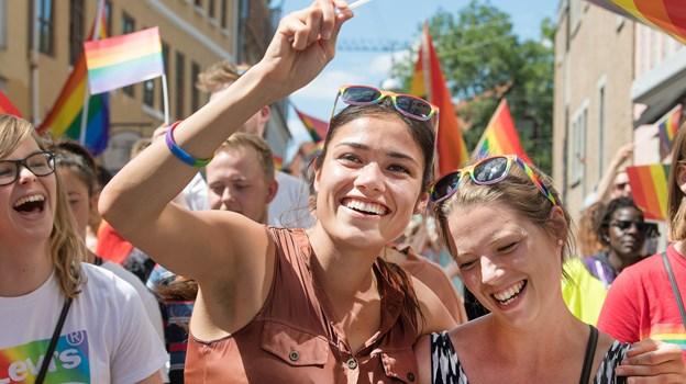 Lørdag er Pride-dag i Aalborg. Arkivfoto: Hans Ravn