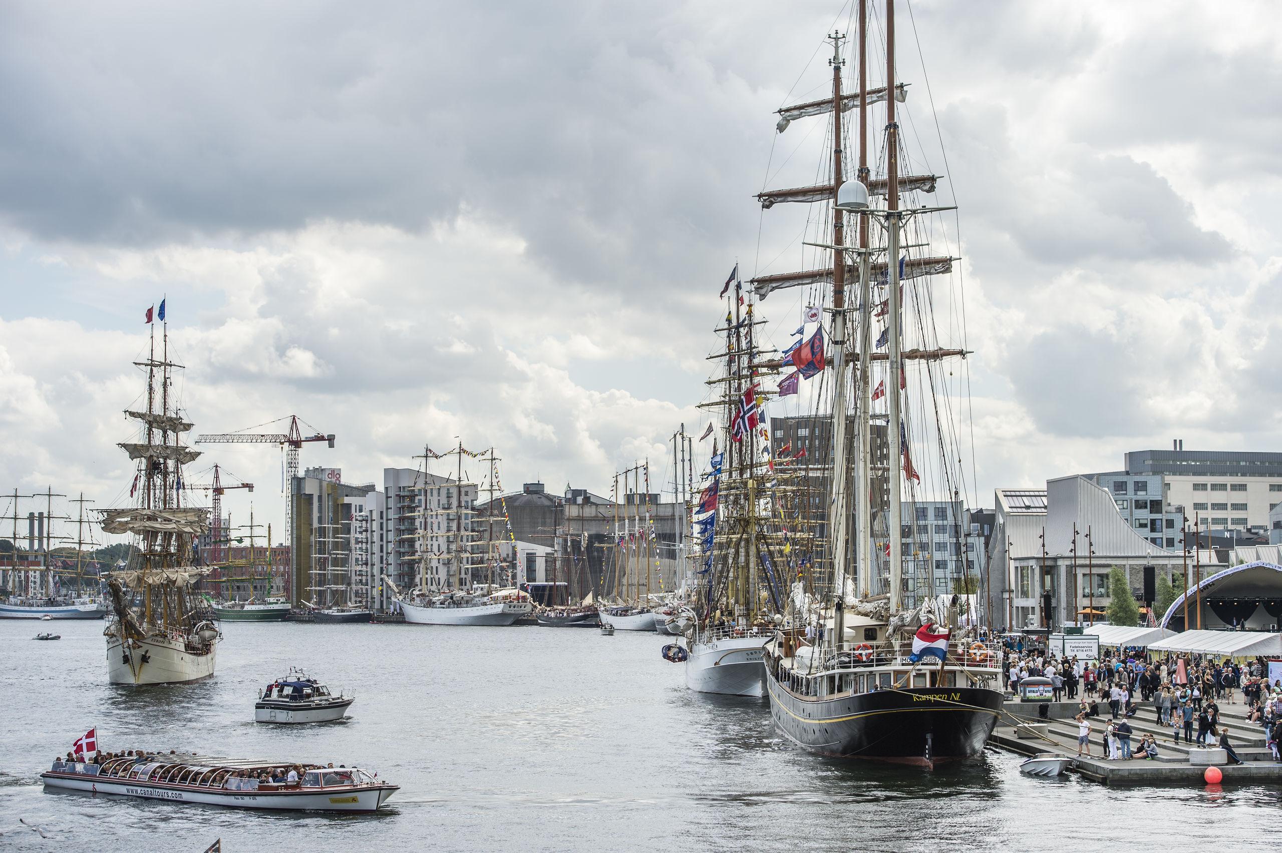 Det er ganske enkelt et imponerende syn, når nogle af verdens flotteste sejlskibe sejler ind i Aalborg Havn og lægger til kaj. The Tall Ships Races are back in town i Aalborg i begyndelsen af juli måned. Arkivfoto: Laura Guldhammer