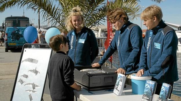 Nordsøen Oceanarium afholdte konkurrencer, hvor man skulle gætte 4 fisk for at vinde fribilletter til Nordsøen Oceanarium. Foto: My Hyttel My Hyttel