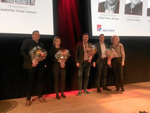 De valgte til bankrådet: Christian Riber, Lise Lotte Huse Larsen, Allan Have og Mikael Klitgaard samt Anette Drivsholm.Privatfoto