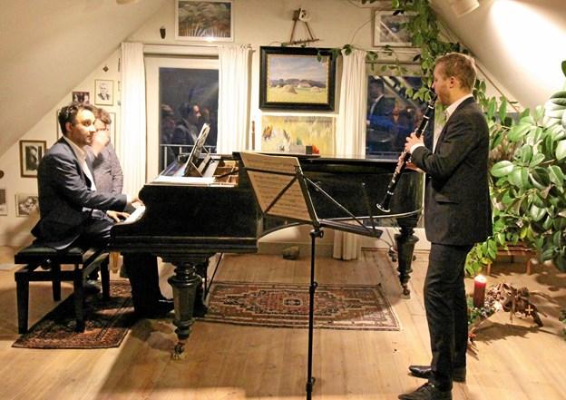 Med koncerten i søndags med Søren Rastogi og Mathias Kjøller blev der muligvis sat punktum efter 29 år med koncerter i Dorf gamle Skole.Foto: Jørgen Ingvardsen