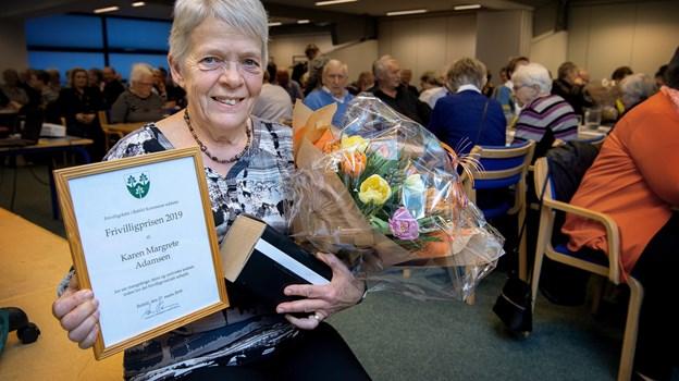 Veggerby Seniorers formand, Karen Margrete Adamsen, blev for nylig kåret til årets frivillige i Rebild Kommune. Arkivfoto: Lars Pauli © Lars Pauli