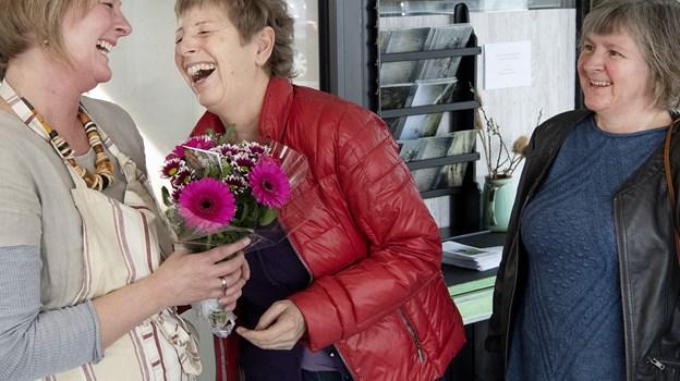 Connie Wissing Larsen, Frøstrup - en af de første gæster - er glad for, at man nu også kan gå på café og få retter fra NaturmadThy. Peter Mørk