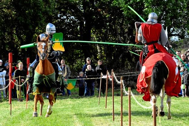Også i år er der lagt op til en ægte ridderdyst i forbindelse med Middelalderdagene på Vitskøl Kloster.  Privatfoto