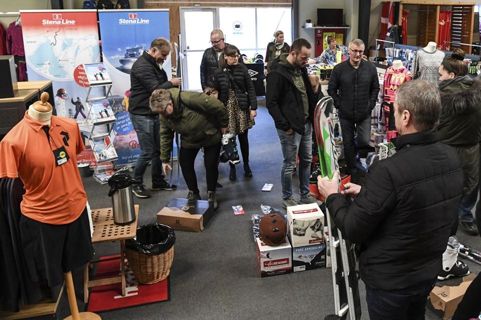 Stena Line, som fragter mange skiturister til Sverige og Norge fra Frederikshavn, var naturligvis også til stede. Foto: Bent Bach Bent Bach