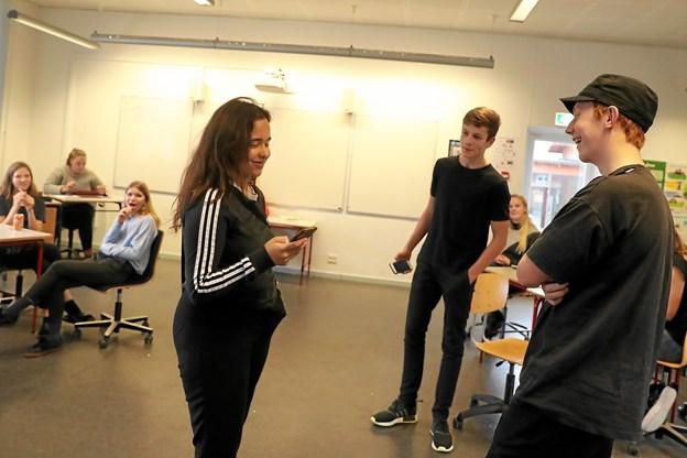 Hovedrollerne i Elverstjerne spilles af Sophie Andersen og Aksel Skjødsholm (t.h.) Foto: Allan Mortensen Allan Mortensen