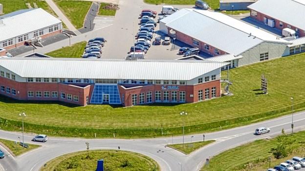 Cemtec - Center for Energi og Materiale Teknologi - er en erhvervspark beliggende i naturskønne omgivelser tæt ved motorvej E45, afkørsel 34, Hobro Nord. Luftfoto: Cemtec Jesper Larsen