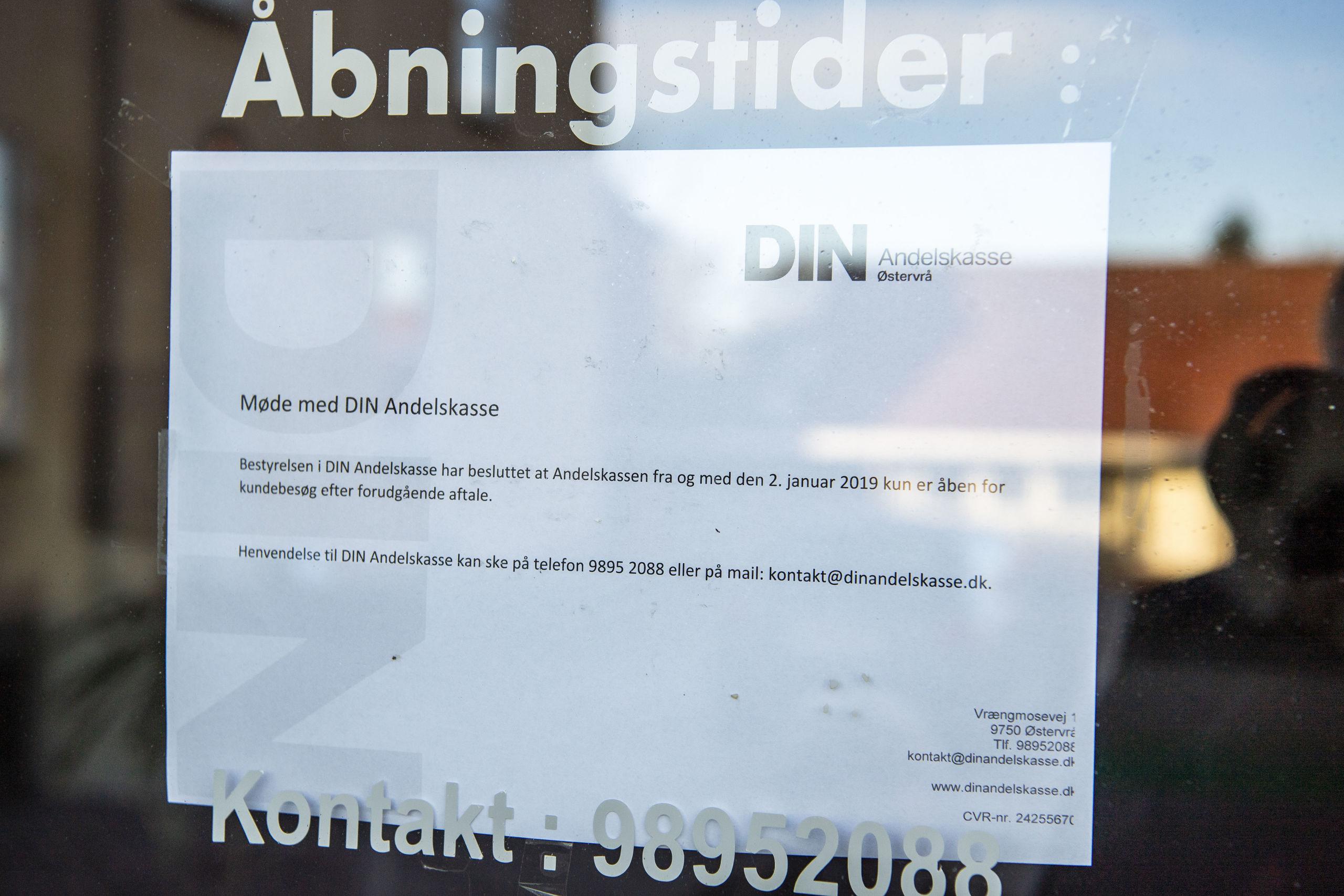Kunder mødt af en låst dør: Andelskasse lukkede for fysisk kundebesøg - uden varsling