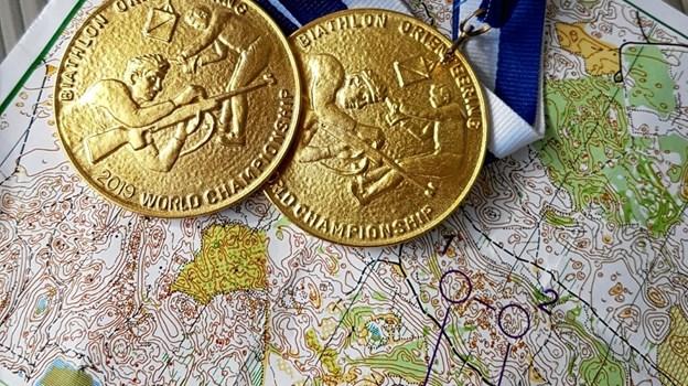Biathlon-orientering er en kombination af orienteringsløb og skydning, og præcis som i skiskydning straffes forbiere med en ekstra løbetur. Privatfoto