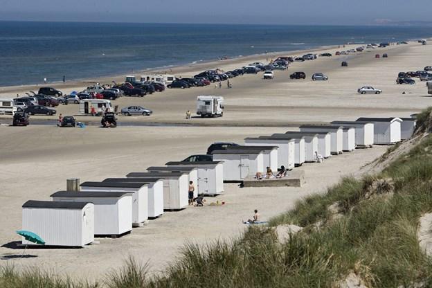 Der mangler stadig at blive opstillet syv strandhuse i Blokhus. Arkivfoto: Martin Damgård